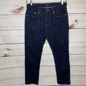 FiveFour Dark Wash Straight Blue Denim Jeans 32